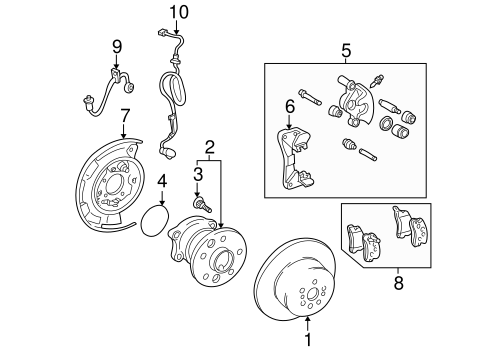 BRAKES/BRAKE COMPONENTS for 1999 Toyota Solara #1