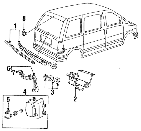 wipers for 1990 ford aerostar