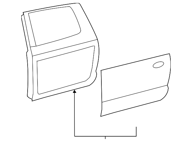 Door Shell - Toyota (67004-0C121)