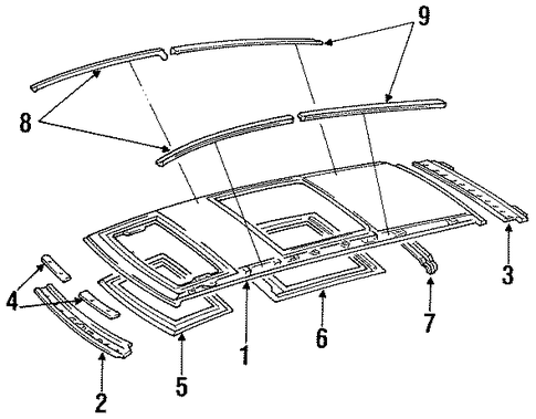 Sunroof Reinforced - Toyota (63104-28030)
