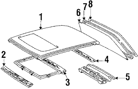 Roof Panel - Toyota (63111-32060)
