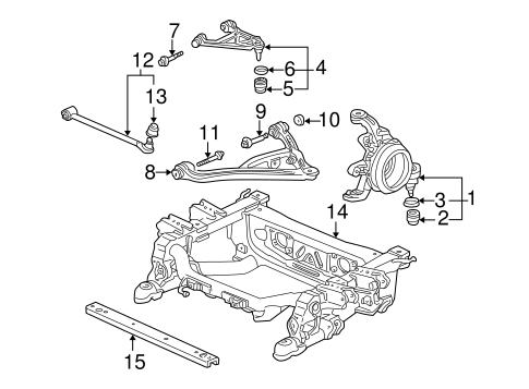 OEM Honda 52400-S2A-J02 - Arm, L Rear (Upper)