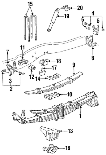 rear suspension for 1992 ford f