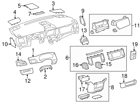 Radio Trim - Toyota (55405-08030-B0)