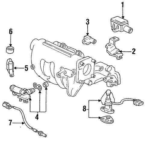 OEM Honda 36450-P08-004 - Idle Speed Control