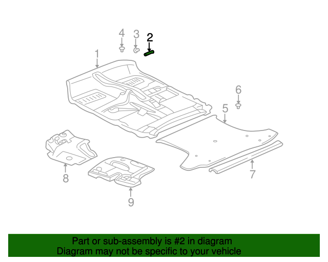Carpet Cover - Toyota (58569-44010-B2)