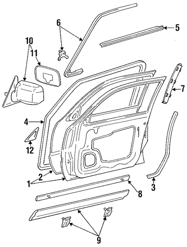 Weather-Strip On Body - Toyota (62311-AA010)