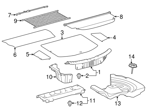 Floor Cover - Toyota (58410-42050-C2)