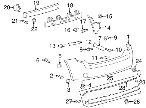 BODY/BUMPER & COMPONENTS - REAR for 2010 Scion xB #1