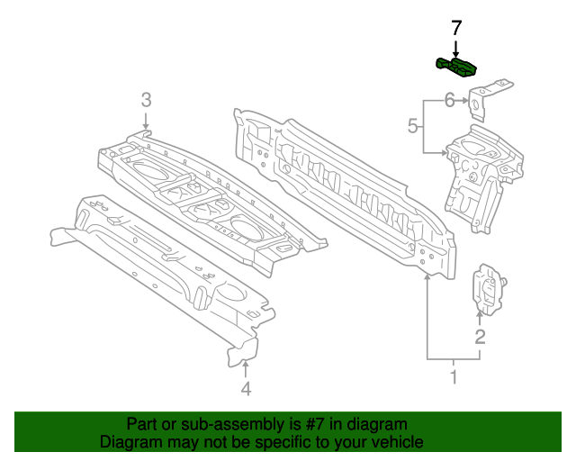 Pkg Tray Support Reinforcement - Toyota (64117-AA010)