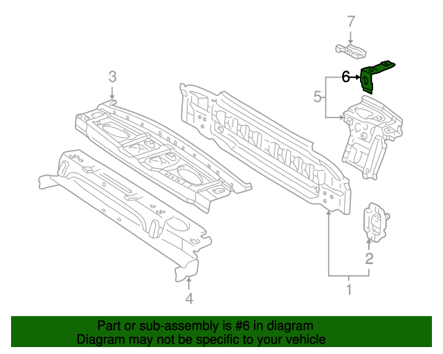 Pkg Tray Support Bracket - Toyota (64126-AA010)