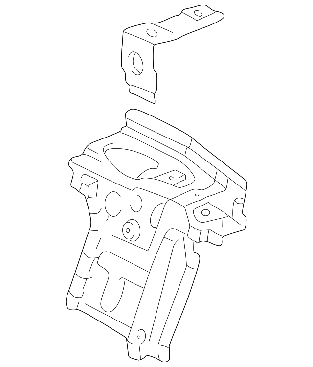 Pkg Tray Support - Toyota (64304-AA900)