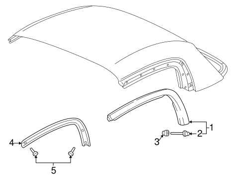 Molding Assembly, R Roof - Honda (85110-S2A-901)