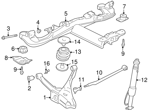 rear suspension for 1999 cadillac seville
