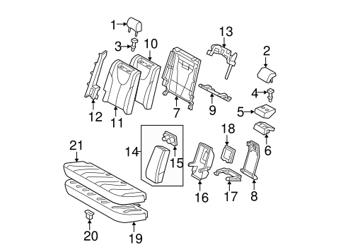 BODY/REAR SEAT COMPONENTS for 2011 Toyota Camry #1