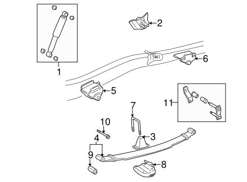 REAR SUSPENSION/REAR SUSPENSION for 1998 Toyota Tacoma #2