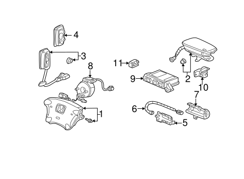 OEM Honda 77900-S9A-A21 - Reel Assembly, Cable (Furukawa)