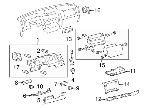 Storage Compartment - Toyota (55042-0C011-C0)