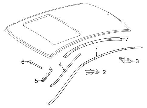 Exterior Trim Roof For 2015 Mercedes Benz C 63 Amg Oemmercedes
