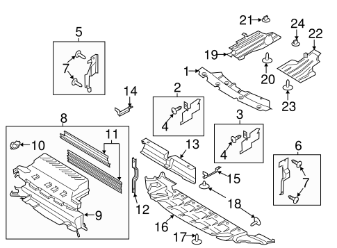 2008 mercury mariner fuse box diagram 2013 ford escape engine shield parts diagram