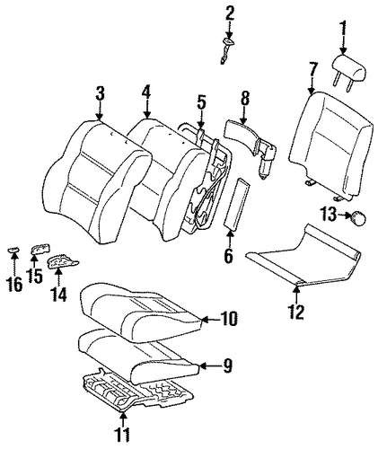 BODY/SEAT COMPONENTS for 1997 Toyota Land Cruiser #1