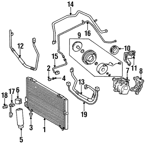 HVAC/SWITCHES & SENSORS for 1996 Toyota Tercel #1