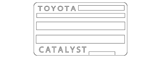 Emission Label - Toyota (11298-36350)
