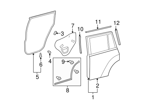 BODY/DOOR & COMPONENTS for 2009 Toyota Highlander #2