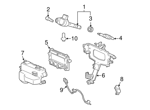 Crankshaft Position Sensor - Honda (37500-R40-A01)