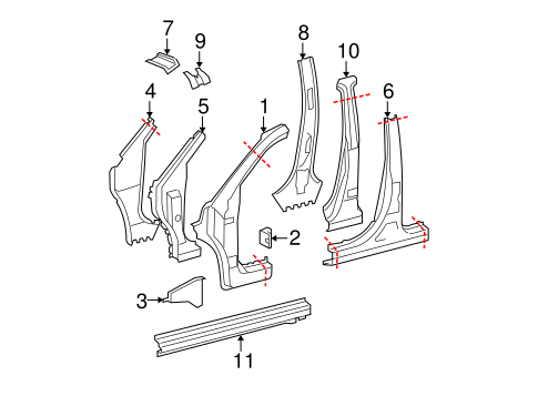 Center Pillar & Rocker - Toyota (61312-48040)