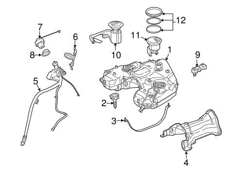 Fuel system components for 2010 mercedes benz gl 350 for Mercedes benz gl450 parts catalog