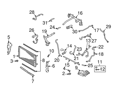 2001 audi a4 radiator diagram