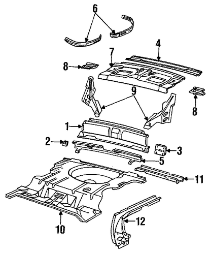 OEM REAR BODY For 1996 Buick Regal