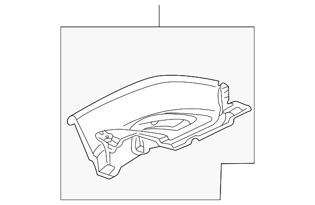 OEM Honda 84501-S2A-000ZA - Extension Panel