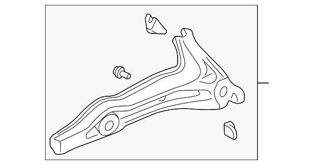 OEM Honda 52370-S10-A12 - Trailing Arm