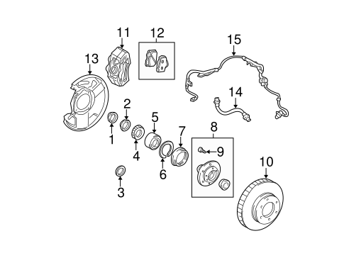 BRAKES/BRAKE COMPONENTS for 2006 Toyota Tundra #1