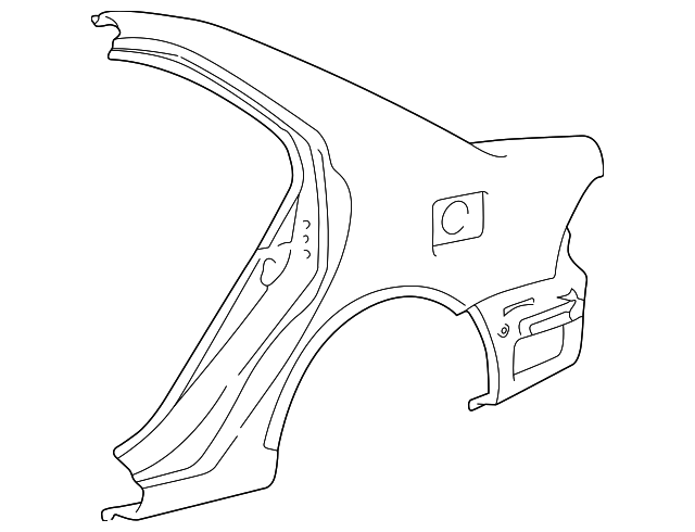 Quarter Panel - Toyota (61601-02140)