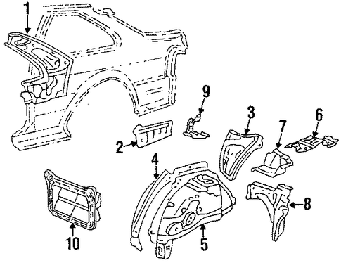 BODY/INNER STRUCTURE for 1998 Toyota Tercel #1