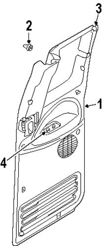 Interior Trim Rear Door For 2000 Dodge Ram 2500