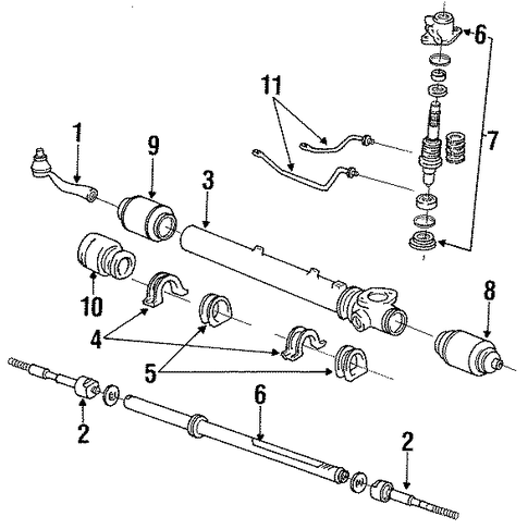 STEERING/STEERING GEAR & LINKAGE for 1996 Toyota Previa #2