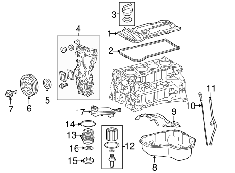 ENGINE/ENGINE PARTS for 2015 Toyota Camry #1