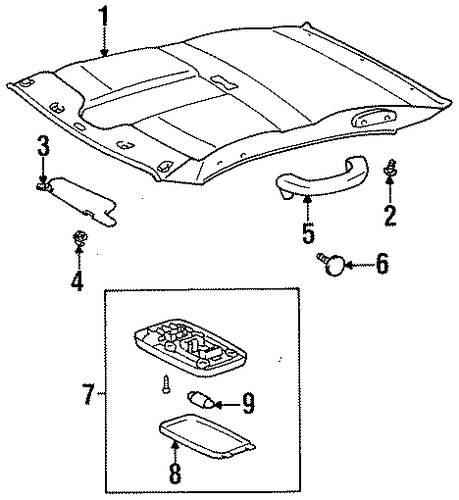 BODY/INTERIOR TRIM - ROOF for 1997 Toyota Tercel #1