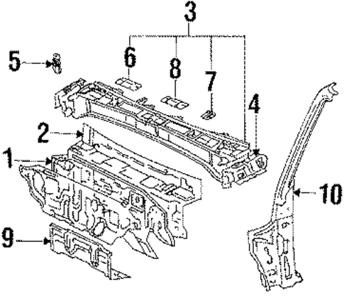 Cross-Member Assembly - Toyota (57301-32070)