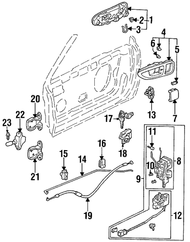 OEM Honda 75760-SB2-003 - Pin, Door Checker