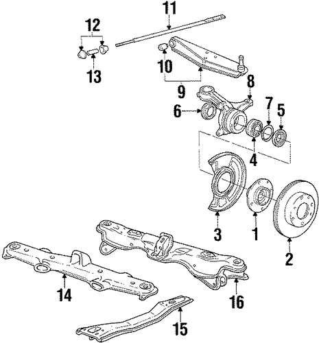 1986 Honda ACCORD HATCHBACK DX Disk, Front Brake - (45251SE0010)