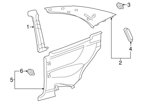 Interior Trim Quarter Panels For 2000 Mercedes Benz Clk430 Oemmercedes