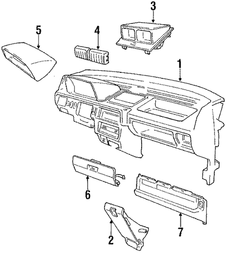 OEM Honda 66410-SB6-020ZG - Glove Box Door