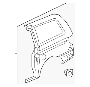 OEM Honda 04636-SHJ-C10ZZ - Side Panel