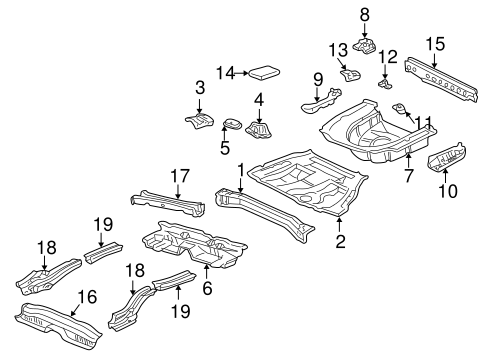 BODY/REAR FLOOR & RAILS for 2003 Toyota Camry #1