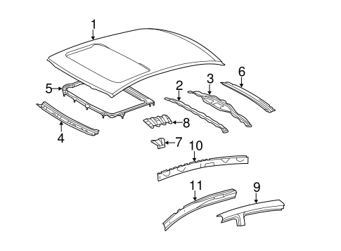 BODY/ROOF & COMPONENTS for 2007 Toyota Avalon #1